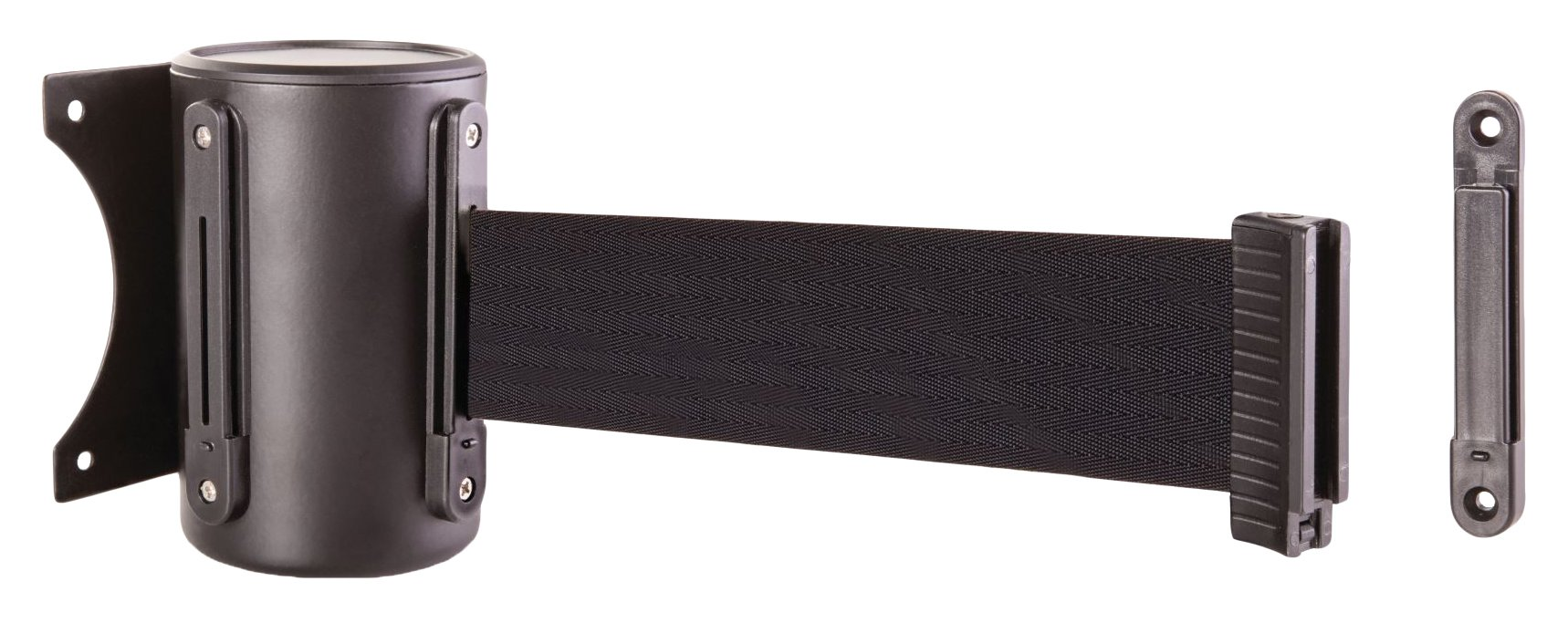 US Weight Wall Mount with Retractable Belt - 13' Black