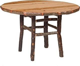 product image for Genuine Hickory Log Round Dining Table - Custom Sizes Handmade USA