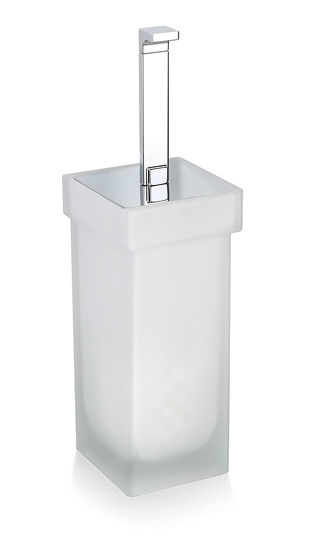 Secret Bath。曇りガラススタンドトイレブラシホルダーセット。Orioコレクション B01JEY411Q