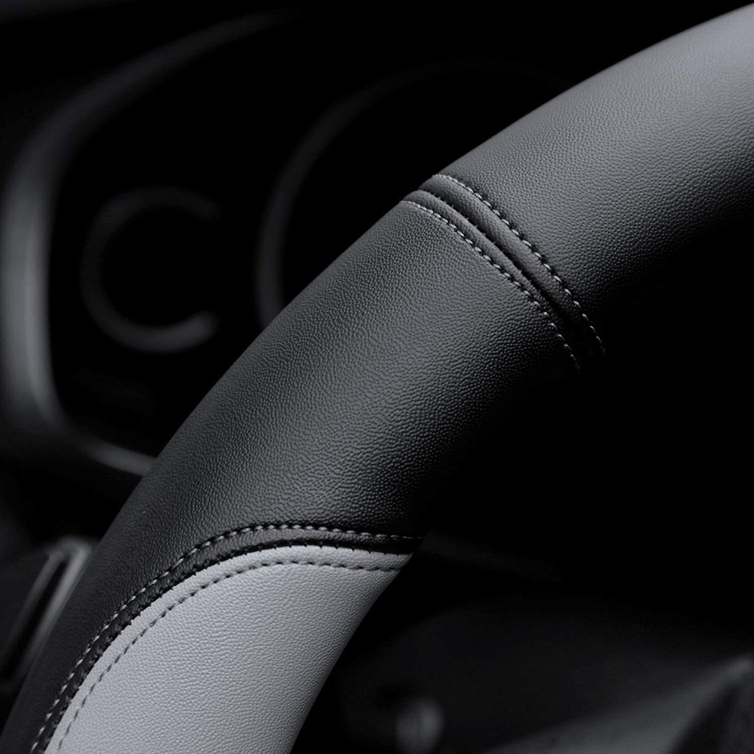 Valleycomfy Microfiber Leather Steering Wheel Covers Small Size for Prius Civic Model 3 Camaro Spark Rogue Mini Smart with 14 inches-14 1//4 inches Outer Diameter Black