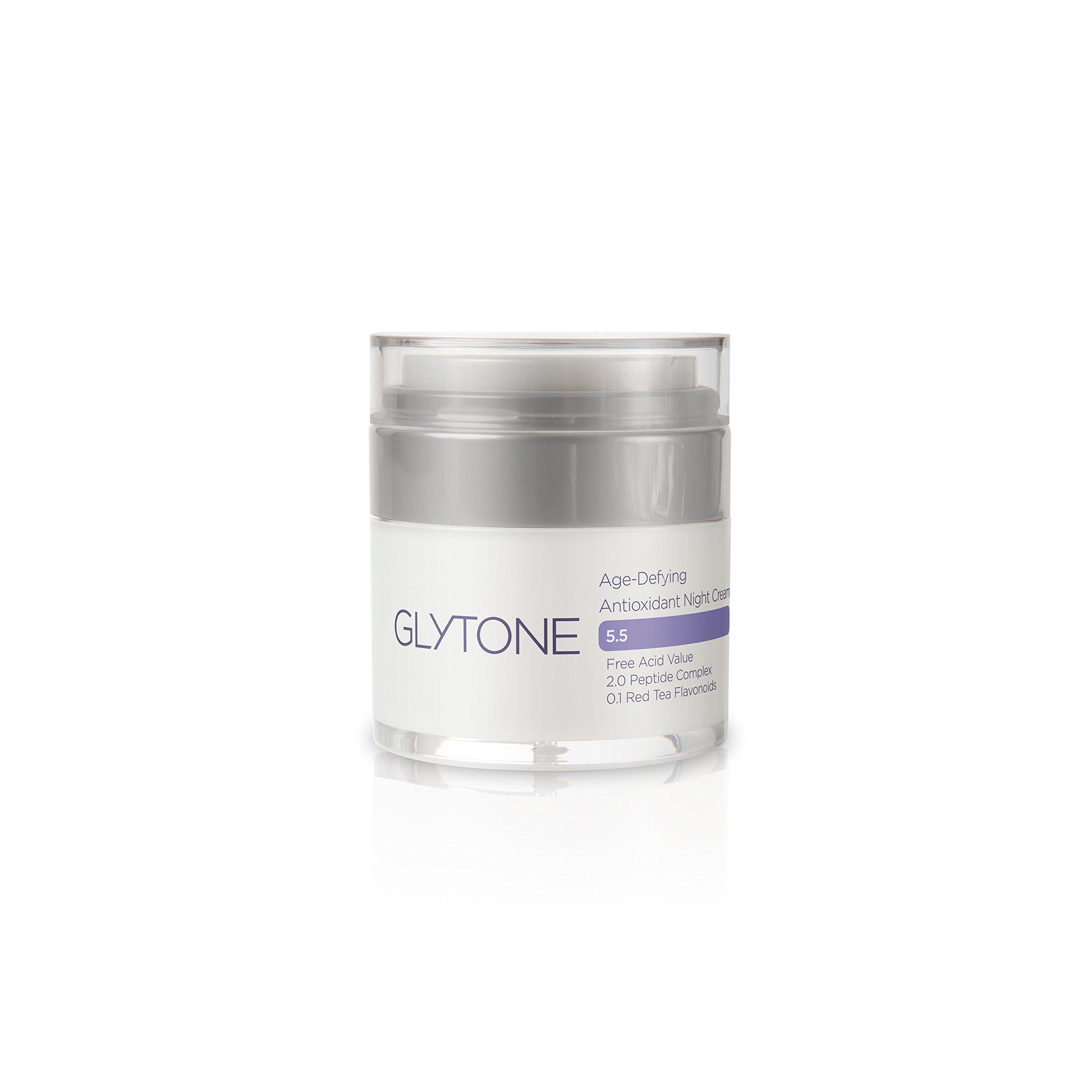 Glytone Age-Defying Antioxidant Night Cream, Glycolic Acid & Peptide Complex, Hydrates, Renews & Reduces Appearance of Fine Lines & Wrinkles, 1 oz.