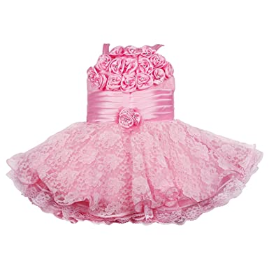 642ae556d Wish Karo Baby Girls Frock Dress (red Pink -net)  Amazon.in ...