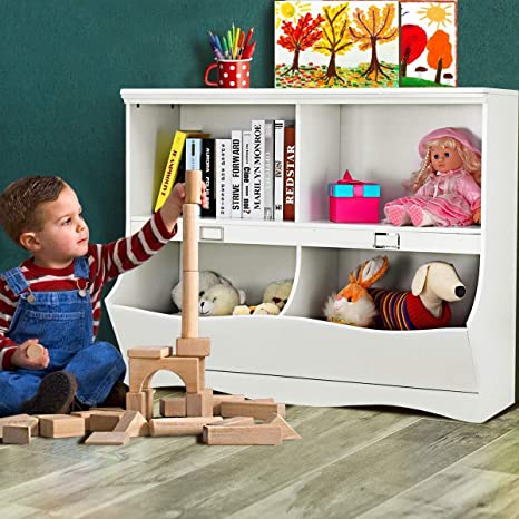 Amazon Com Caraya Elegant Design Kid Bookcase Toy Organizer