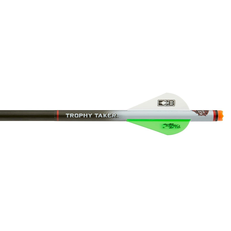 Trophy Taker Shrink Fletch Neon Green-White 2 Pack
