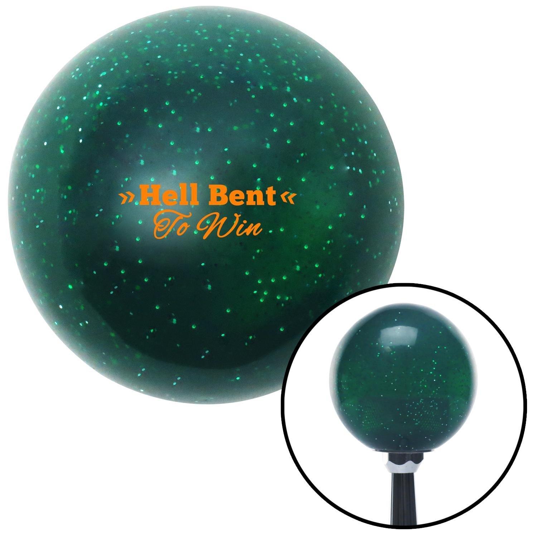 American Shifter 284265 Shift Knob Orange Hell Bent Green Metal Flake with M16 x 1.5 Insert
