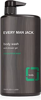product image for Every Man Jack Men's Body Wash - Eucalyptus Mint | 33.8-ounce - 1 Bottle | Naturally Derived, Parabens-free, Pthalate-free, Dye-free, and Certified Cruelty Free