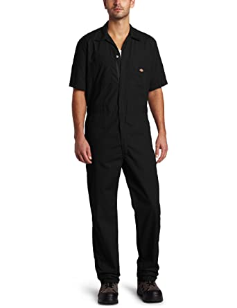 amazon com dickies men s short sleeve coverall stain wrinkle