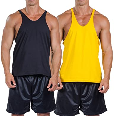 2df544f4d57d6 Mens Cotton Stringer Tank Top by Pitbull Clothing in Your Choice of Color  (Medium