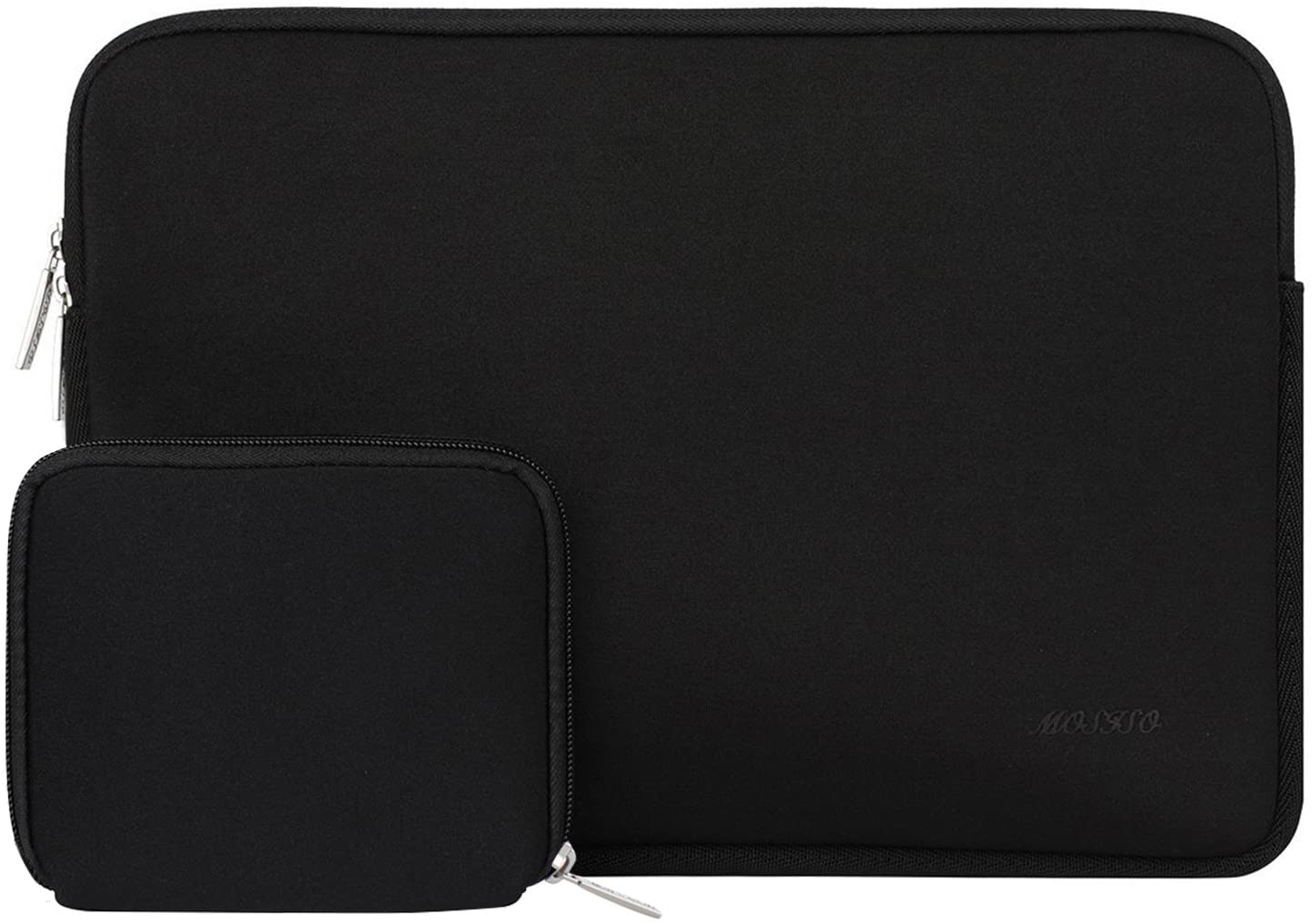 MOSISO Laptop Sleeve Compatible with 11.6-12.3 inch Acer Chromebook R11/HP Stream/Samsung/Lenovo/ASUS/MacBook Air 11/Surface Pro X/7/6/5/4/3, Water Repellent Neoprene Bag with Small Case, Black