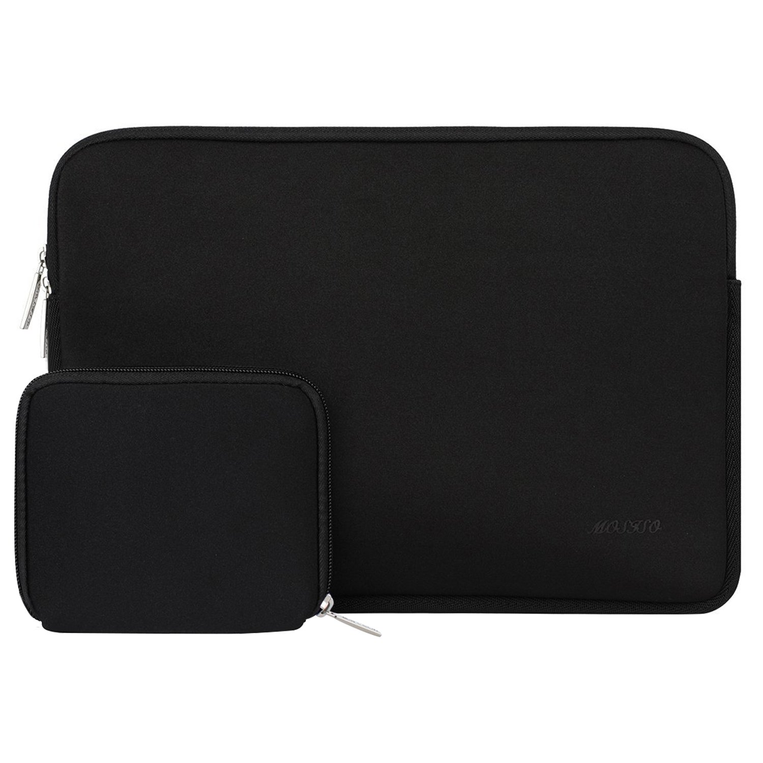 MOSISO Water Repellent Neoprene Sleeve Bag Cover Compatible 13-13.3 Inch Laptop with Small Case, Black