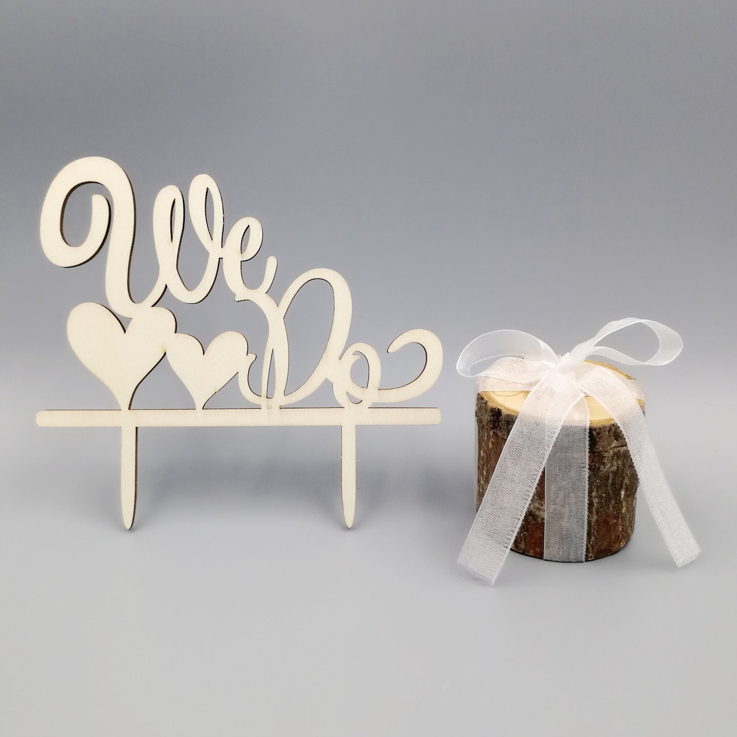 Kalevel 2pcs We Do Wedding Ring Box Cake Cupcake Toppers Rustic Wooden Ring Bearer Box Vintage Personalized Funny Wedding Cake Toppers Decorations Cake Insert Card Ring Holder for Wedding Ceremony by Kalevel (Image #6)