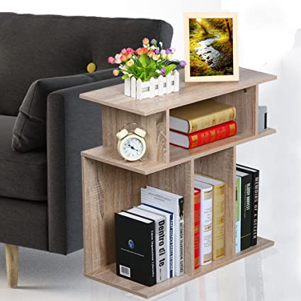 Attirant Rustice Accent Side Table Book Storage Display Shelves Sofa End Console  Table