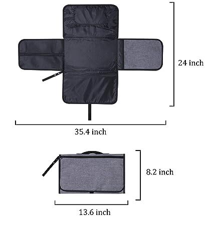 Amazon.com: Bassion - Cambiador de pañales portátil para ...