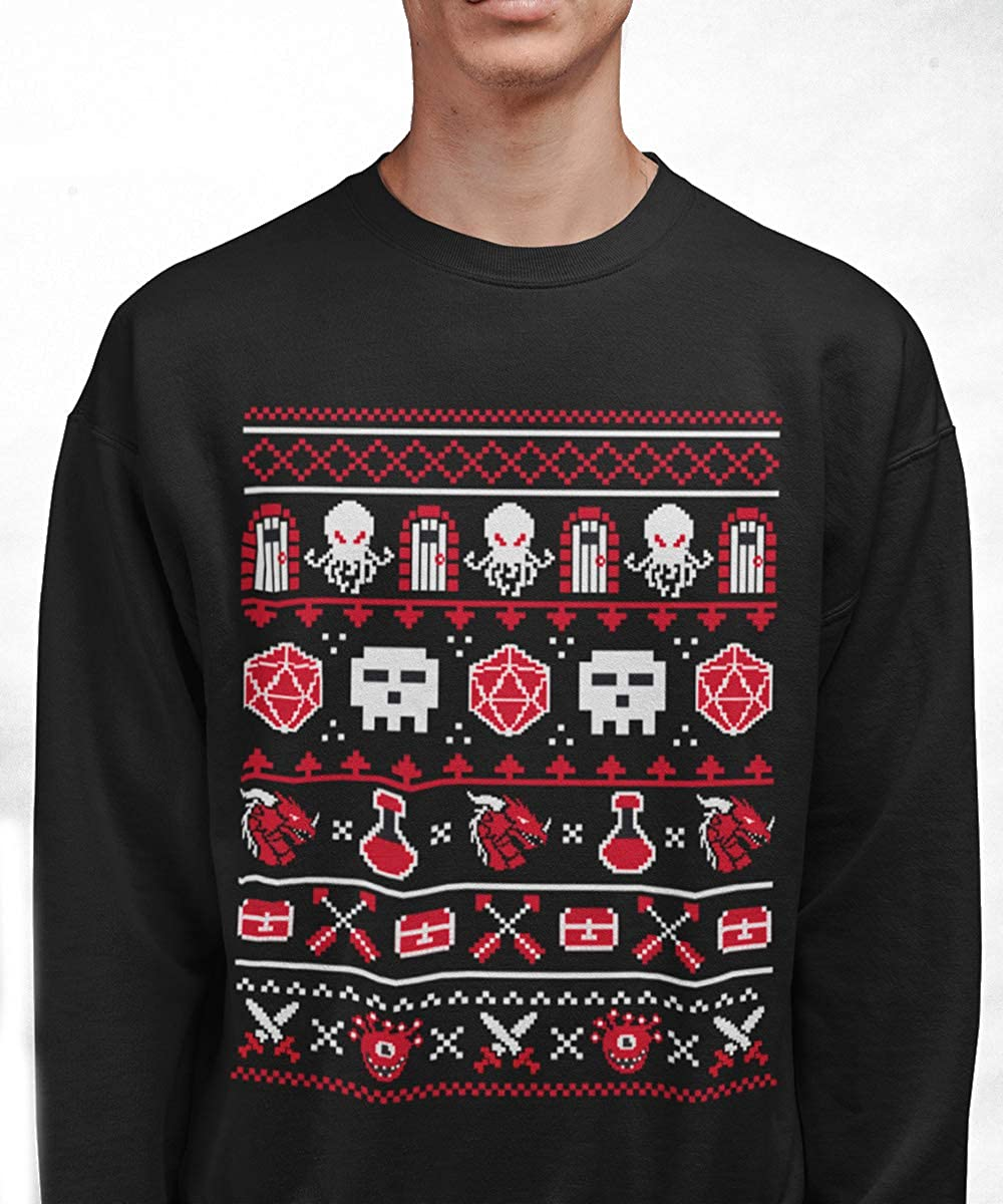 Total Party Kill The +1 Holiday Sweater D&D Inspired