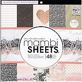 "Me & My Big Ideas Darice MAMPADX.292 MAMBI Sheets Cdstk Pad 12 x 12"" Rose Gold"