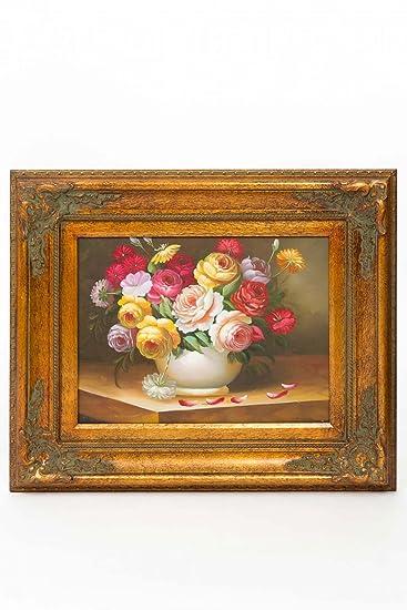 Ölgemälde Stillleben Blumen Gemälde antik Stil painting still life ...