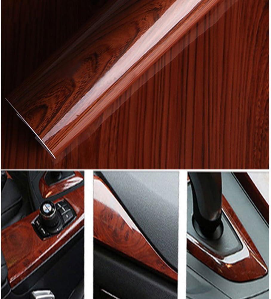 hoho brillante madera grano textura papel pegatinas impermeable anti aceite cristal gabinetes muebles papel pintado autoadhesivo renovación: Amazon.es: Coche y moto