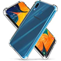 Galaxy A30/A20 (2019) Case,Slim Thin Anti-Scratch Clear Flexible TPU Silicone with Four Corner Bumper Protective Case Cover Compatible for Samsung Galaxy A30/A20 (2019)(Transparent)