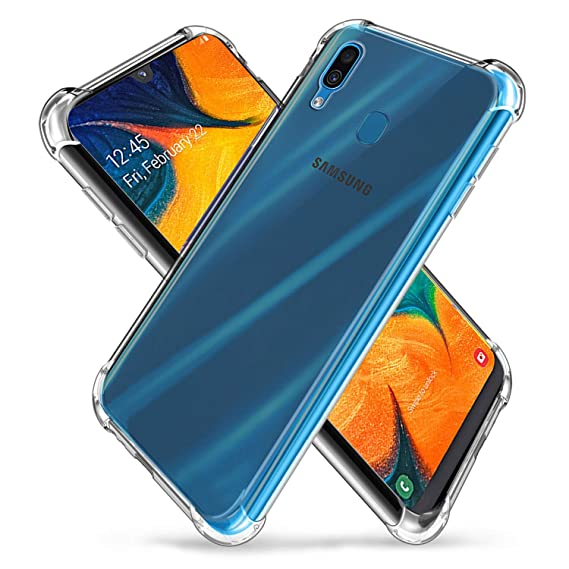 fb912bfc49 Galaxy A30/A20 (2019) Case, Zeking Slim Thin Anti-Scratch Clear. Roll over  image to zoom in