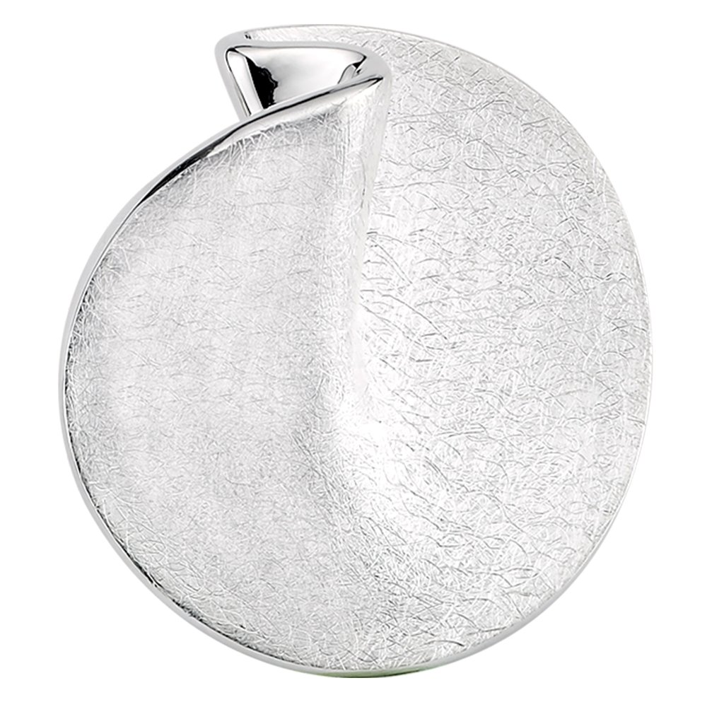 Vinani Design Anhä nger Kreis rund elegant gebü rstet Sterling Silber 925 2ARG-EZ