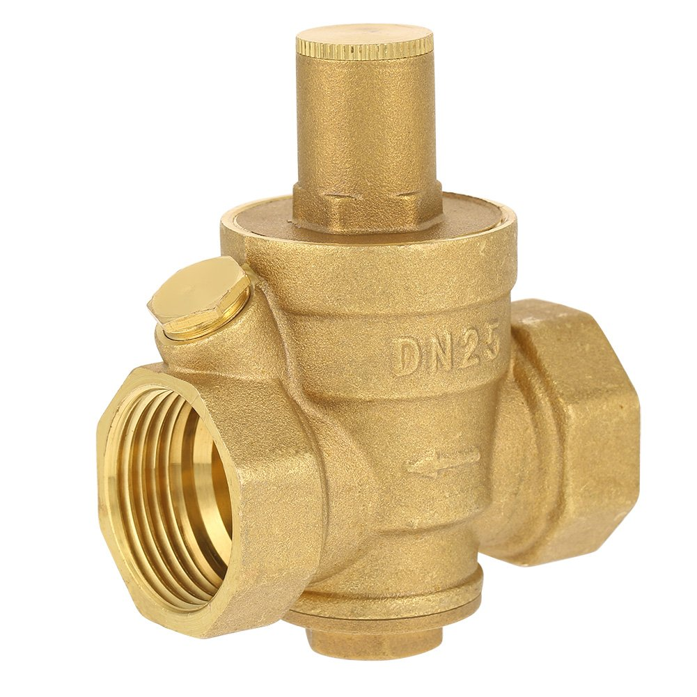 DN15 1'' Water Pressure Regulator Brass Adjustable Valve Thread Reducer