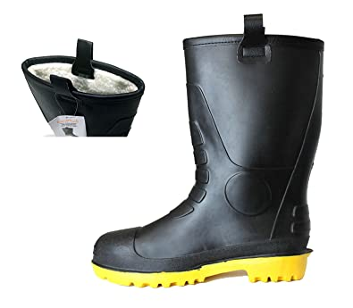 Amazon.com | LM Mens Waterproof Fur Interior Rubber Sole Winter ...