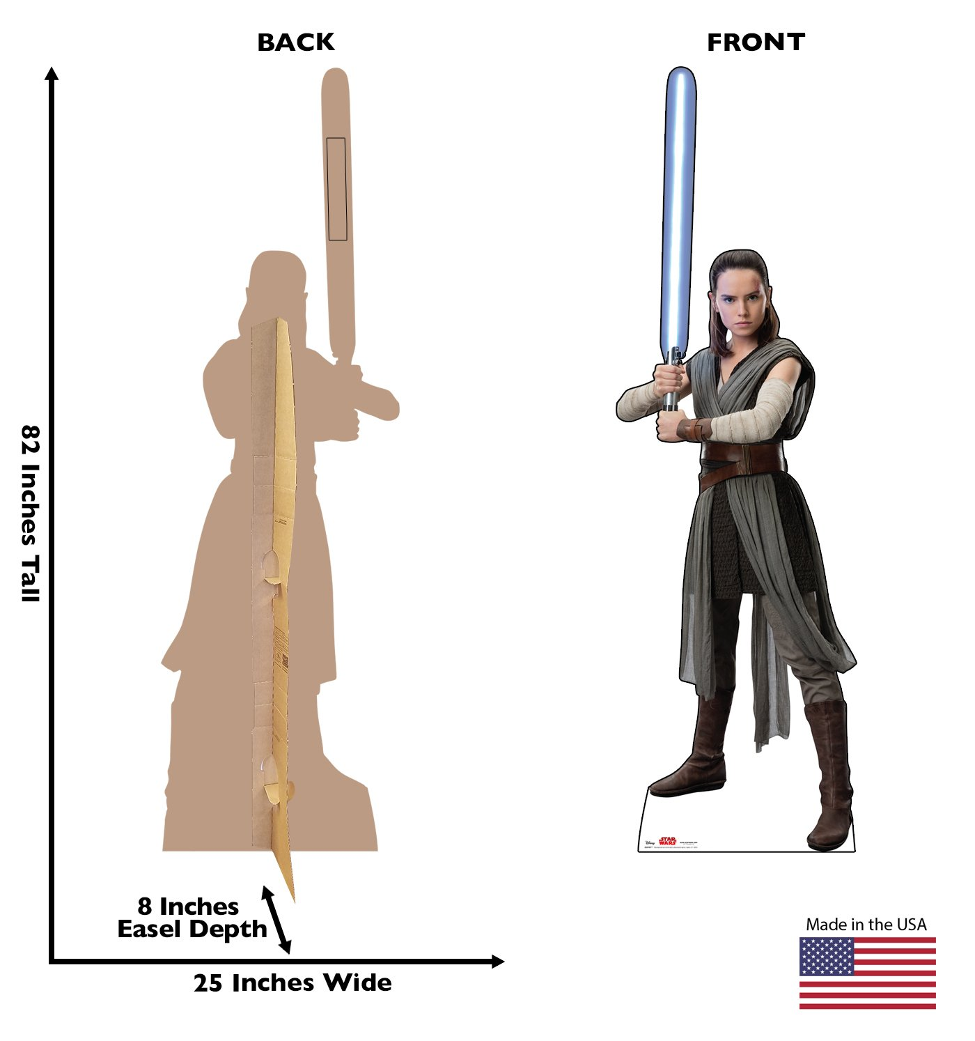 The Last Jedi 2541 Star Wars: Episode VIII Advanced Graphics Chewbacca Life Size Cardboard Cutout Standup 2017 Film