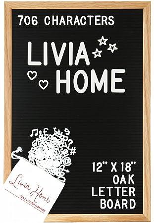 Livia Home - Pizarra de letras de fieltro con caracteres ...
