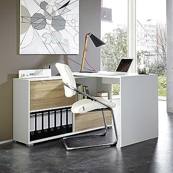 Computertisch Bürotisch Schreibtisch Arbeitstisch Eckschreibtisch Holz Metal HOT