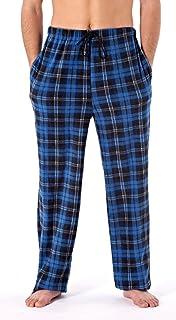Harvey James Check Fleece Trousers - Blue - S