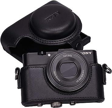 RX100 IV RX100 II Nuevo Cuero Sintético Estuche Bolsa De Cámara Para Sony RX100 V RX100 III