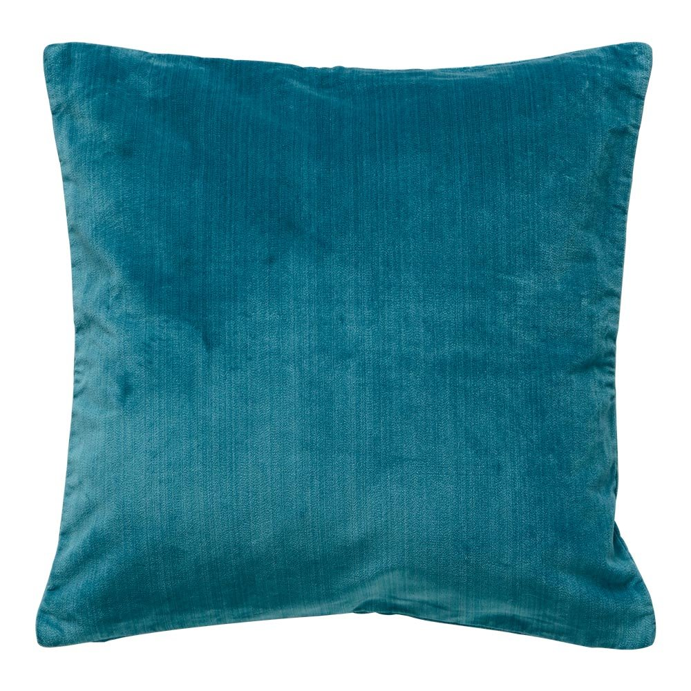 Ethan Allen Velvet Strie 20'' Decorative Pillow, Teal by Ethan Allen