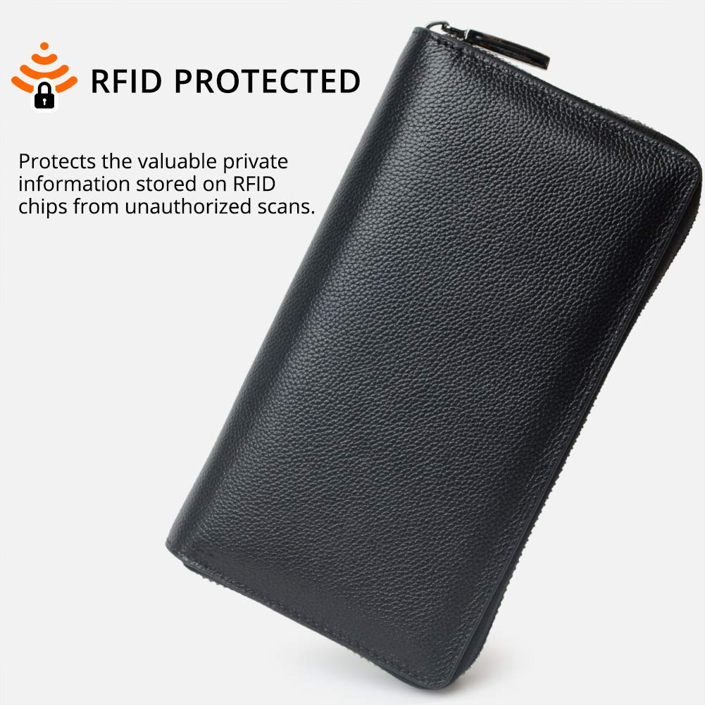 0914b8ddc15d RFID 36 Credit Card Holder Large Wallet Leather for Women Multi Card Lots  Protector Organizer Purse