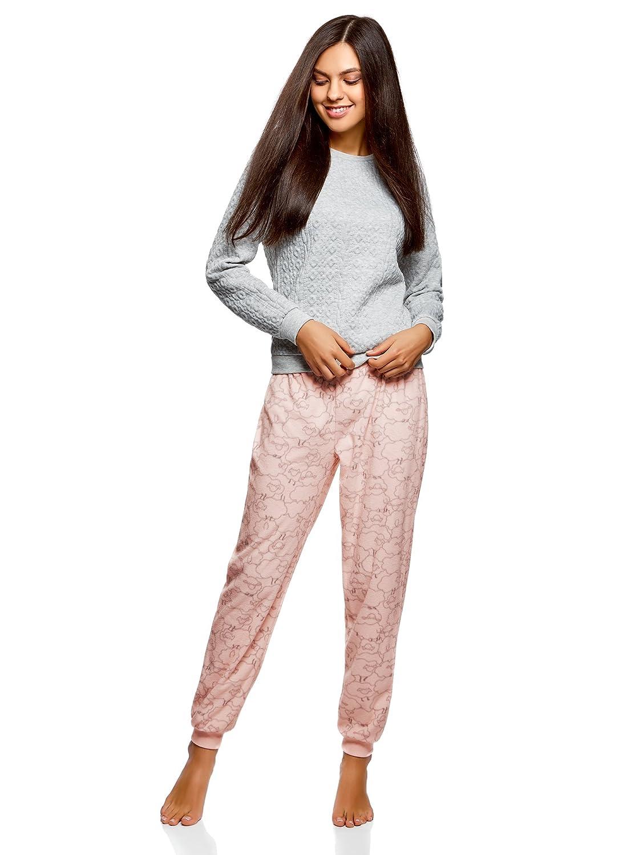 oodji Ultra Womens Sheep Print Trousers