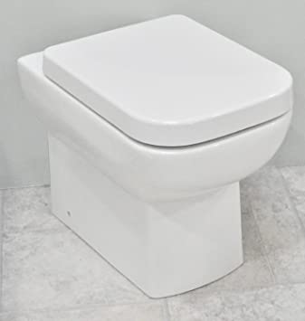 square toilet seat uk. Alchemist 550 Square Back to Wall Toilet Pan WC BTW Short Projection Soft  Close Quick Release