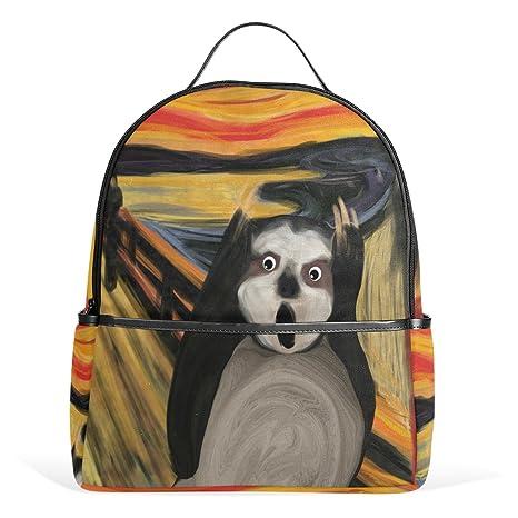 Amazon.com  ZOEO Sloth Backpack Scream Girls 3th 4th 5th Grade Kids Bookbag  Travel Laptop Daypack Bag Pursefor Teen Boys  Toys   Games 90baf556474e2