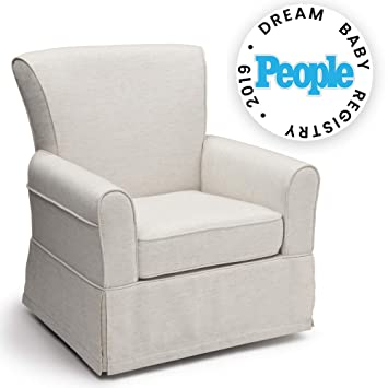 Pleasant Delta Children Upholstered Glider Swivel Rocker Chair Sand Beatyapartments Chair Design Images Beatyapartmentscom