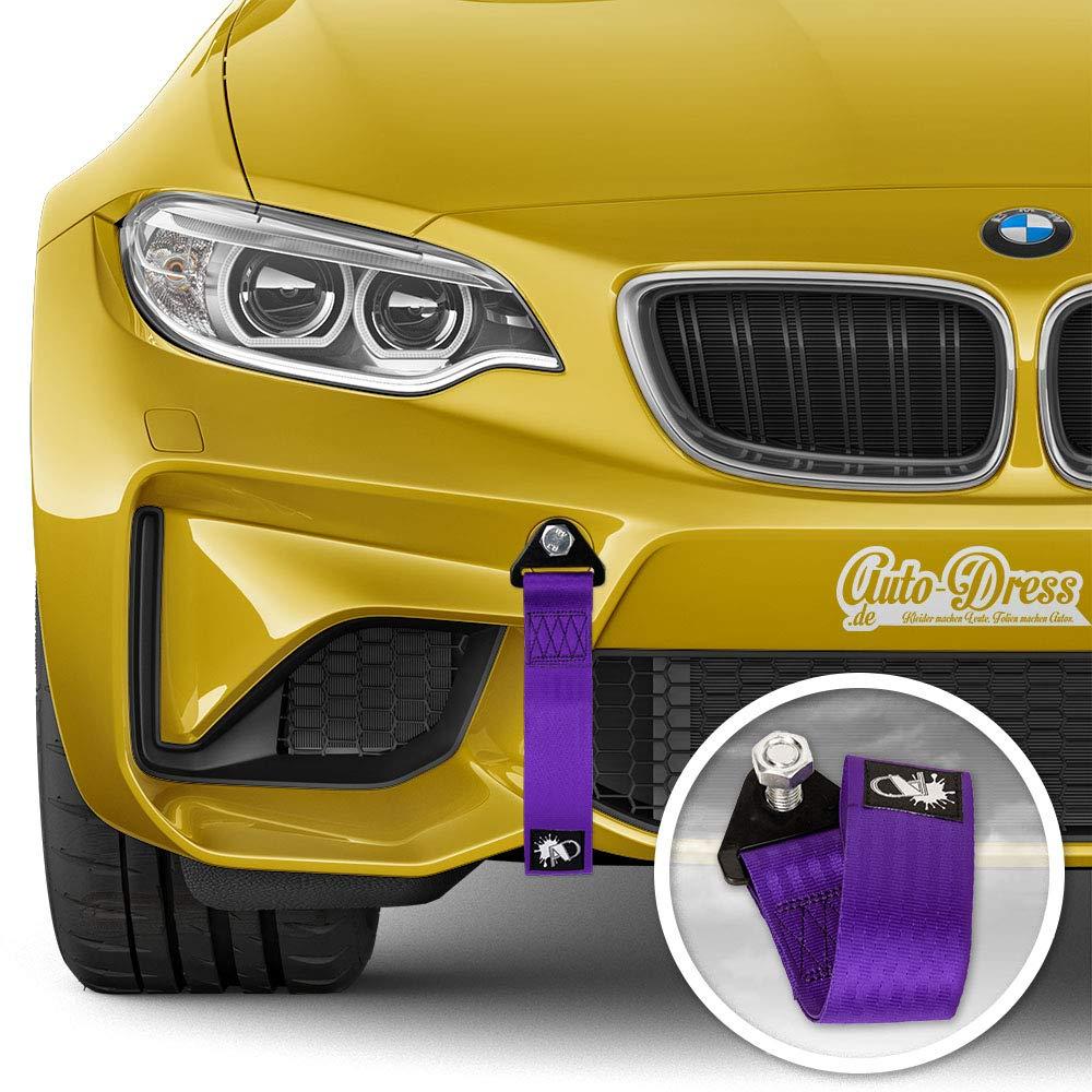 noir, rouge, orange, jaune, vert, bleu, violet, gris, rose course et sport automobile Disponible en 9/couleurs Auto-Dress Sangle de remorquage pour rallye