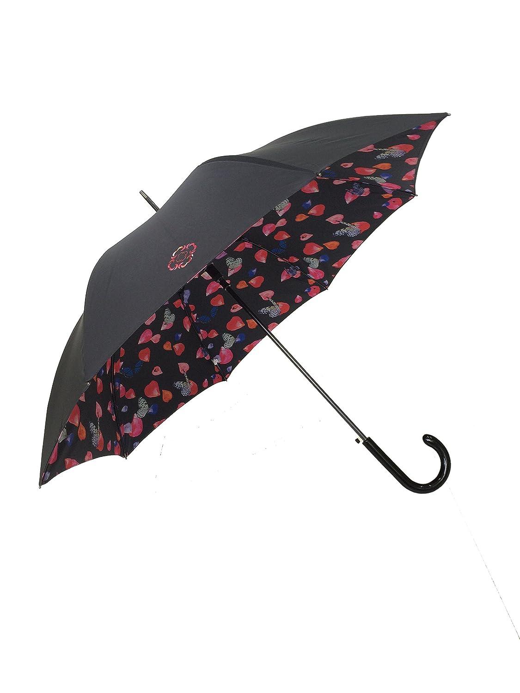 Le Monde du Parapluie Paragua clásico, Negro (Negro) - SUSINOSA1655PETALE