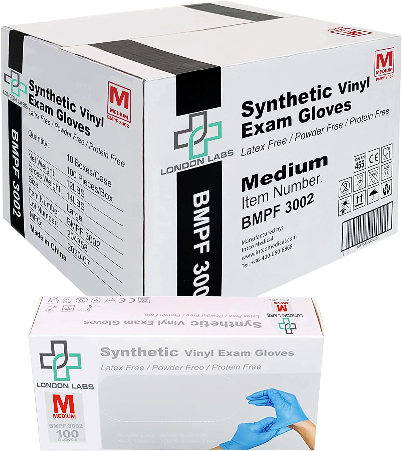 1000 Synthetic Vinyl Exam Max 59% OFF Free Gloves -Latex Disposable specialty shop