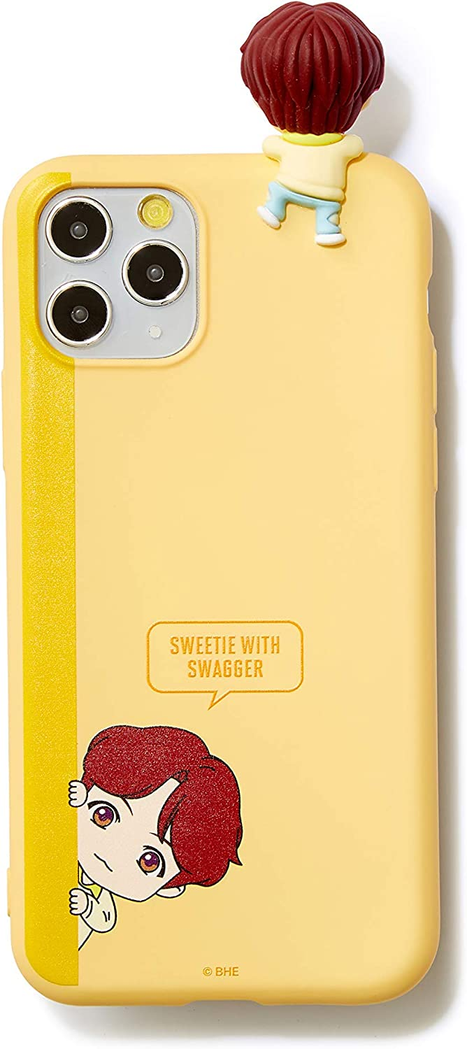 [BTS Merchandise for Girls] BTS Character Figure Color Jelly Samsung Galaxy, iPhone case Peek-a-Boo (Note 9, Suga)