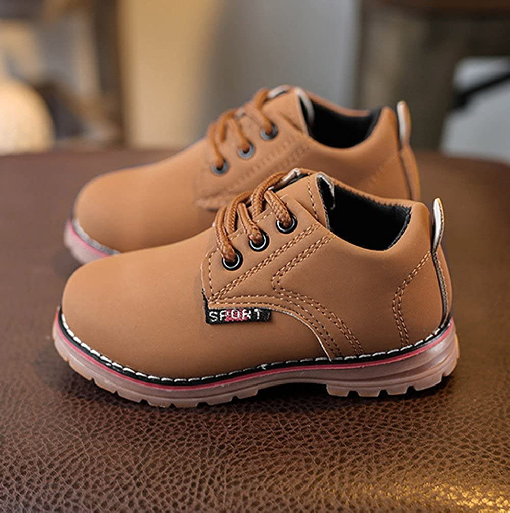 Baby Toddler Boys Girls Martin Sneaker Boots Fall Winter Lace Up Casual Shoes for 1.5-3.5 Years Old