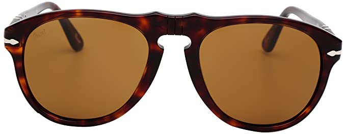f836804f647 Image Unavailable. Image not available for. Color  Persol Unisex 0649 Havana  Tortoise Frame Brown Lens Plastic Sunglasses ...