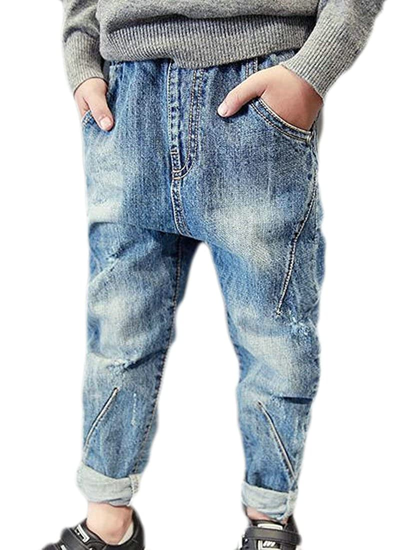 Wofupowga Boys Distressed Denim Basic Classic Washed Jean Pants