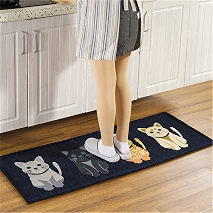 Ukeler Kitchen Runner Rug- 1.5\' x 5\' Non Skid Hallway Carpet Entry Rugs  Runners for Kitchen and Entryway, 17.7\'\'×59\'\'