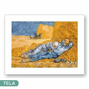 Cadres L U0026 C Italie Van Gogh La Siesta Impression Sur Toile 60 X 45 Cm