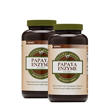 Amazon.com: GNC Natural Brand Papaya Enzyme – Paquete doble ...