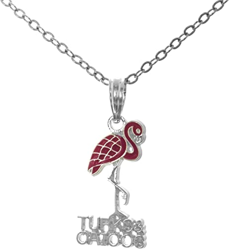 """925 Sterling Silver Rose Gold Flamingo Pendant Necklace 20/"""" Chain INCLUDED"""