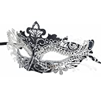 Coxeer Masquerade Mask Laser Cut Metal Masks Mardi Gras Halloween Masks for Women Ball Party