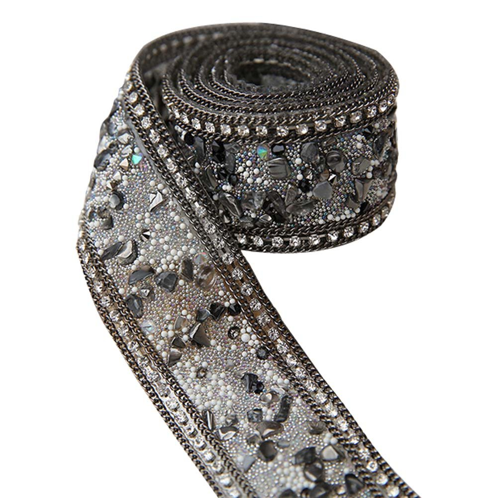 Chaîne strass Couture Galons Applique Costume DIY mariée, 3.5 * 50cm Blancho Bedding